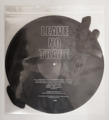 Leave No Trace, limited edition vinyl record with zip-bag, nitrile gloves and accompanying poem. Courtesy of the artist and Callicoon Fine Arts, NY.
