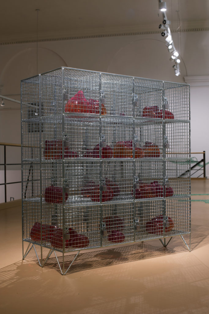 Mona Hatoum. Cells, 2014. Zinc-plated steel, glass. Courtesy of the artist and Alexander and Bonin, NY. Photo: Eduardo L. Rivera.