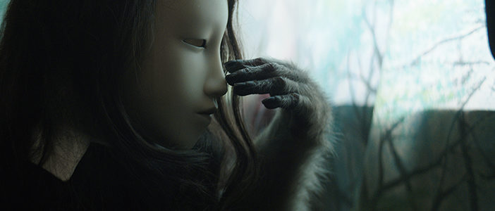 Pierre Huyghe (Untitled) Human Mask, (Film still), 2014 Film, colour, stereo, sound, 2:66 Running time: 19 minutes  Courtesy the artist, Hauser & Wirth, London and Anna Lena Films, Paris © Pierre Huyghe