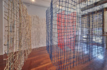Caroline Bagenal, Summer Palace, 2017, willow branches, marsh reeds, newspapers, paint, dimensions variable. Photo Credit: Stewart Clements.