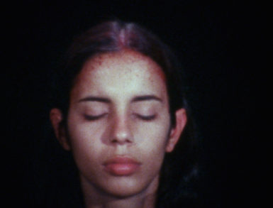 Ana Mendieta, Sweating Blood, 1973 (video still). © The Estate of Ana Mendieta Collection, LLC. Courtesy Galerie Lelong, New York