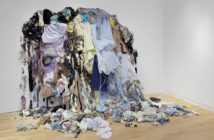 """Sarah Meyers Brent, Beautiful Mess, 2017, fabric, acrylic, and mixed media on drywall, 144"""" x 120"""" x 75"""". Photo Credit: Will Howcroft Photography."""